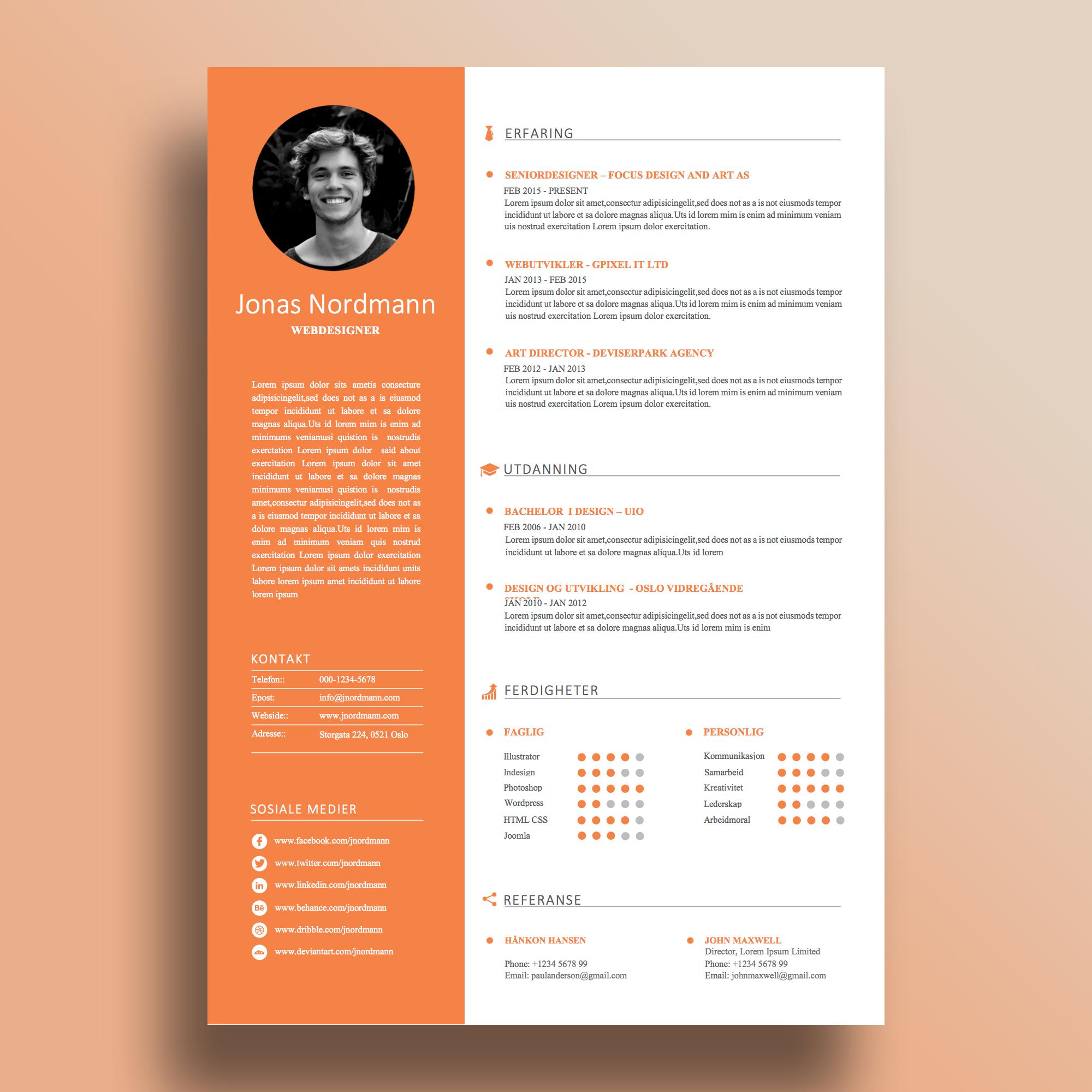 CV Modern Orange